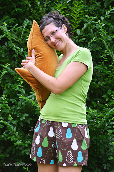 PDF sewing pattern: Evening Primrose Pajama Pants for women by Cucicucicoo Patterns - shorts version - www.cucicucicoo.com