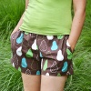 PDF sewing pattern: Oenothera Biennis Pajama Pants for women by Cucicucicoo Patterns - shorts version with pockets - www.cucicucicoo.com