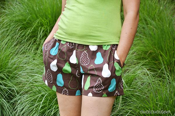 Cartamodello PDF: Pantaloni di pigiama da donna Primula della Sera di Cucicucicoo Patterns - pantaloncini con tasche - www.cucicucicoo.com