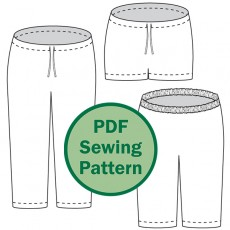 PDF sewing pattern: Oenothera Biennis Pajama Pants for women by Cucicucicoo Patterns - www.cucicucicoo.com