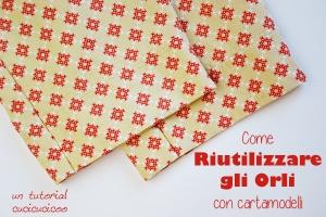 Risparmia tempo e fatica quando si usano tessuti di recupero: Come riutilizzare gli orli esistenti con cartamodelli! www.cucicucicoo.com