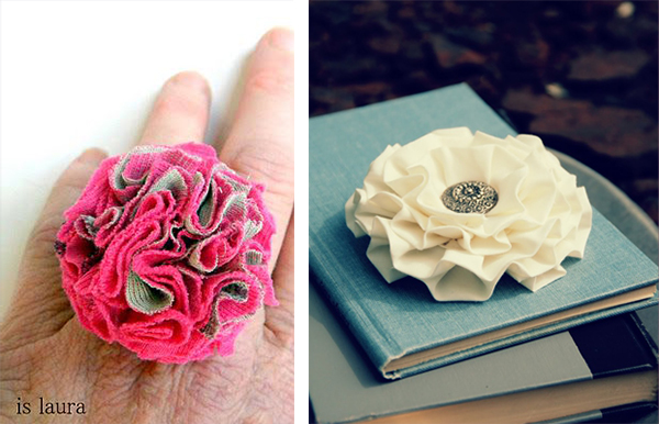 Fabric flower accessories