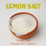 Lemon salt recipe: prepare tasty lemon-flavored salt from the salt left over from preserved lemons! Perfect for flavoring your favorite dishes! www.cucicucicoo.com