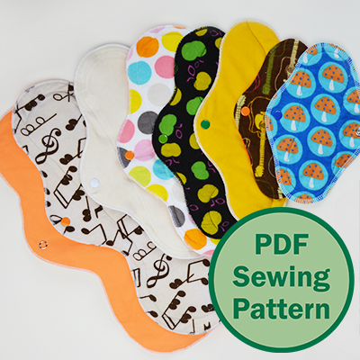 Cloth Menstrual Pads PDF sewing pattern by Cucicucicoo Patterns | www.cucicucicoo.com