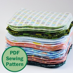 Cloth wipes PDF pattern by Cucicucicoo Patterns | www.cucicucicoo.com