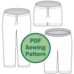 Evening Primrose pajama pants for women PDF sewing pattern by Cucicucicoo Patterns | www.cucicucicoo.com