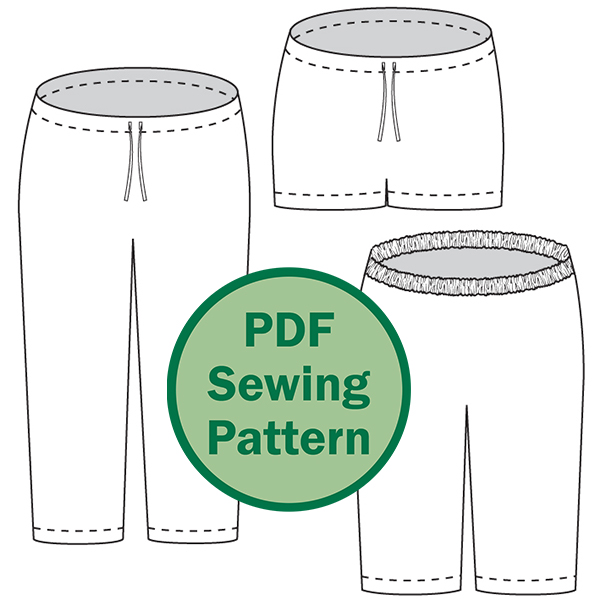 Evening Primrose Pajama Pants Pattern (for women) - Cucicucicoo