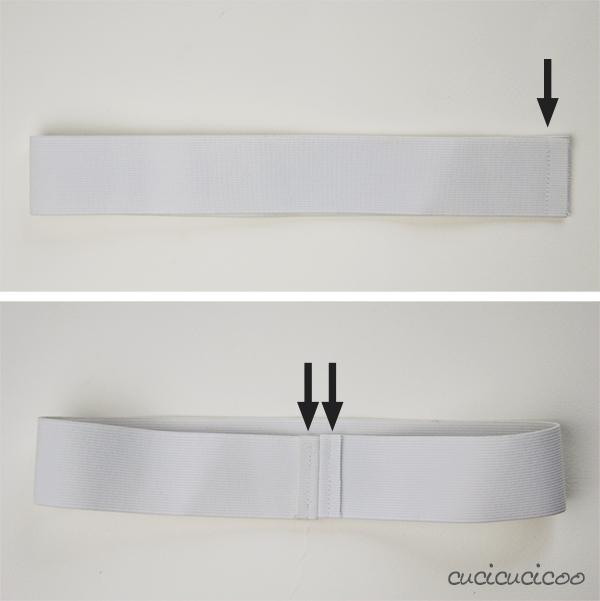 Come cucire elastico in vita a vista in 5 passi: un'alternativa facile alle cerniere e alle coulisse per l'elastico! Impara come da www.cucicucicoo.com