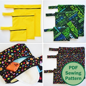 Wet Bags PDF sewing pattern by Cucicucicoo Patterns | www.cucicucicoo.com