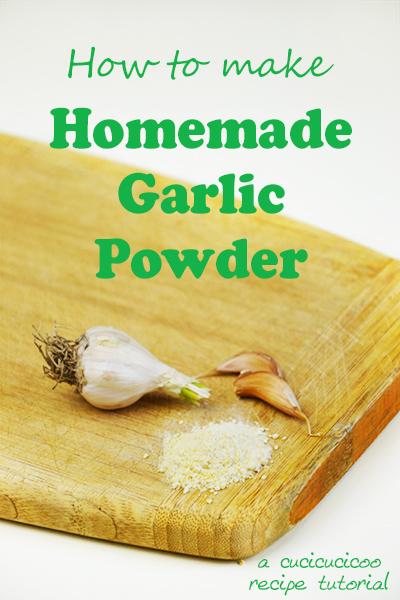 How to make homemade garlic powder: a super simple recipe by www.cucicucicoo.com