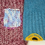 Repairing holes in sweaters: darning and crochet