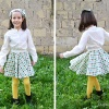 Free sewing pattern! How to sew a circle skirt in one or two layers. www.cucicucicoo.com