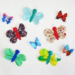 Tutorial: DIY scrap fabric butterfly (free pattern)