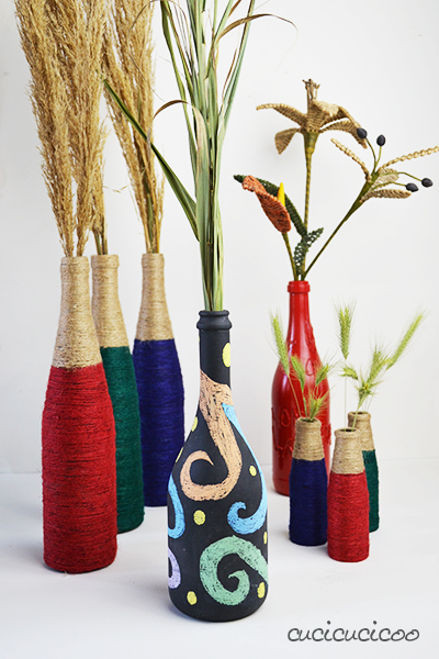 Wine Bottle Crafts 2 Upcycled Vases With Materials You