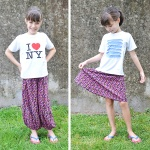 Refashion tutorial: Turn pants into a skirt