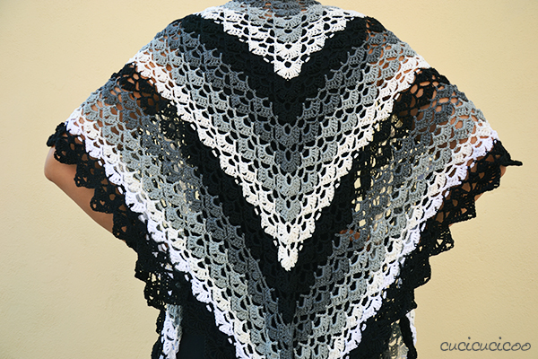 Evening Breath Free Summer Shawl Crochet Pattern Cucicucicoo