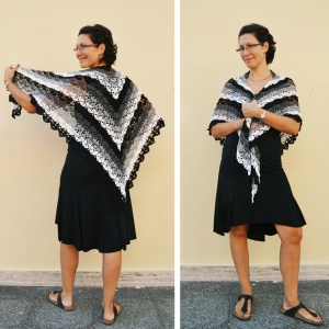 Evening Breath: a summer shawl crochet pattern by DROPS, made by www.cucicucicoo.com