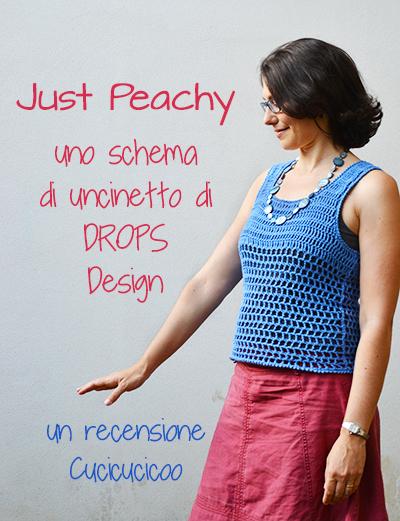 Just Peachy, uno schema gratuito di Drops Design per un top estivo all'uncinetto