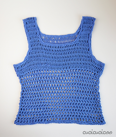 Free Crochet Patterns For Mesh Tops : Just Peachy summer mesh crochet top pattern - Cucicucicoo