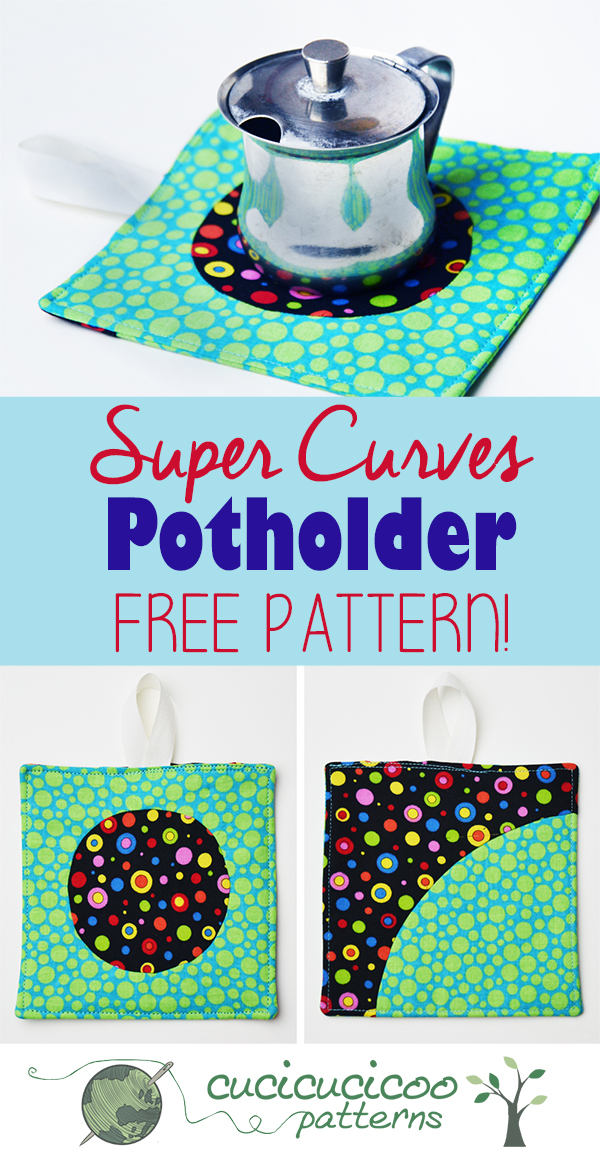 Why are you still using your great aunt's potholders?! Jazz up your kitchen with these funky potholders… the sewing pattern is free! Makes a great easy gift! Cucicucicoo Patterns