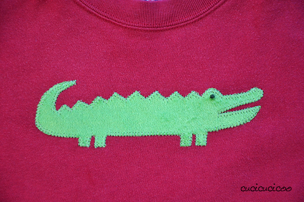 Cover up logos on clothes with fun kid-friendly appliquè! www.cucicucicoo.com