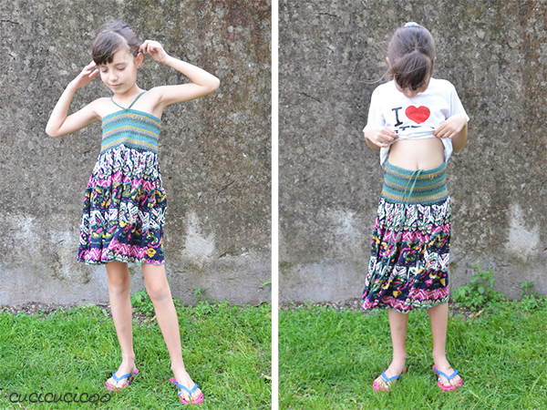Learn to sew the easiest elastic waistband ever- with no casing or twisting! www.cucicucicoo.com