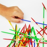 Make homemade pick up sticks (with carry bag)