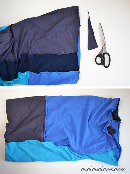Make a cool and snuggly accessory from your family's old T-shirts, even if they're ripped or stained! This tutorial shows how to cut up shirts and piece them together to create a colorful and unique infinity scarf! www.cucicucicoo.com