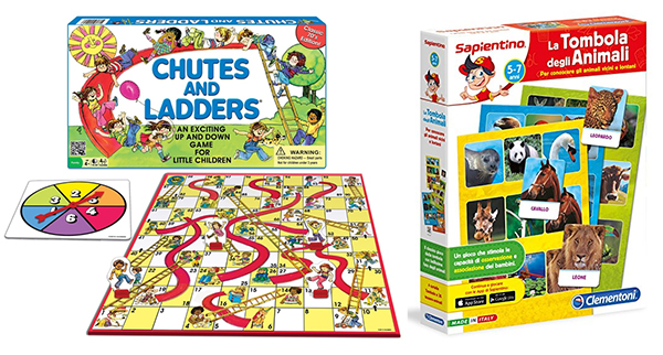 Chutes and Ladders and Tombola: The 17 BEST non-electronic games for young children with limited or no reading or math skills. www.cucicucicoo.com