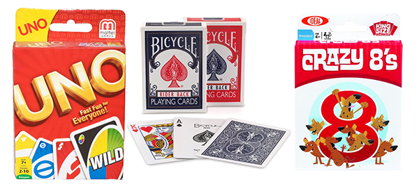 Uno, Crazy Eights and classic playing cards: The 17 BEST non-electronic games for young children with limited or no reading or math skills. www.cucicucicoo.com