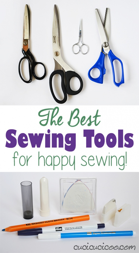 The key to fantastic sewing is not only knowing all the techniques, but also using the right supplies. These are the best sewing tools for working faster with more professional results! Love them! www.cucicucicoo.com