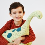 This mega-sized stuffed dinosaur tutorial is perfect for creating a cool gift for your favorite dino lover! A Pintastic! free pattern review, bringing you the best of Pinterest!