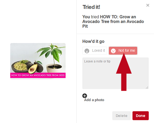 "How to use the Pinterest ""Tried It"" button to review tutorials and recipes. Help others find high quality pins with great instructions!"