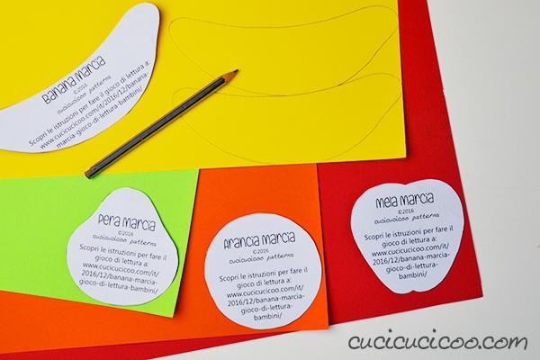 Un gioco di lettura divertente per i bambini piccoli che imparano a leggere le prime parole. Raccogli più banane possibili senza prendere quelle marce! (versioni in italiano e in inglese)
