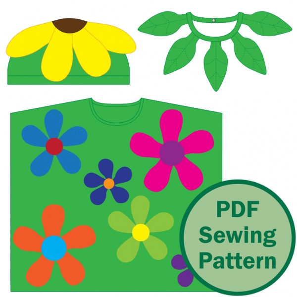 I've included an extra pattern file for printing on 36″ (90 cm) wide paper in a copy shop. That way you can spend less time on preparing the pattern, and more time relaxing after you've sewn it!