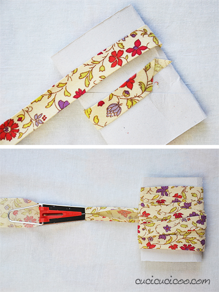 Learn to make bias tape with fabrics in your stash with a bias tape maker! With homemade bias tape your binding will always match your project perfectly!