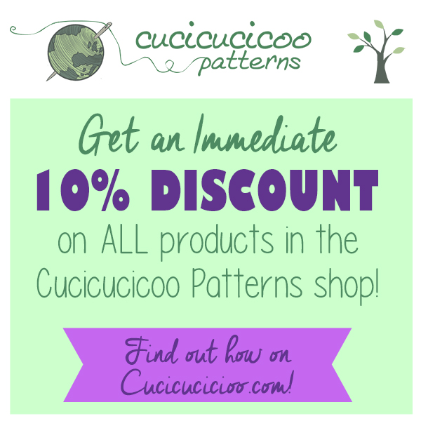 Get an immediate 10% discount when you leave a review for any Cucicucicoo Pattern! The coupon code is good on ANY Cucicucicoo product, including sewing patterns and packs and physical products!