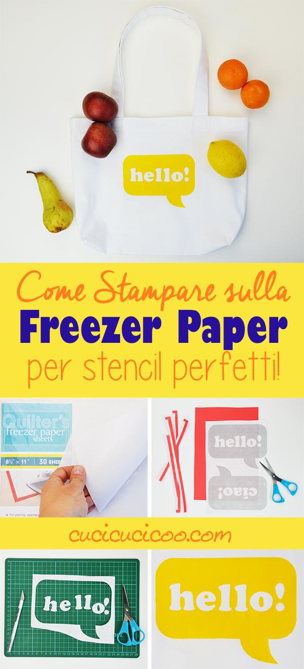 Fare gli stencil con freezer paper è un modo divertente per decorare tessuti, ed è semplice fare i disegni quando impari a stampare su freezer paper con lo stampante a casa, che sia laser o getto d'inchiostro! Scopri come su www.cucicucicoo.com!