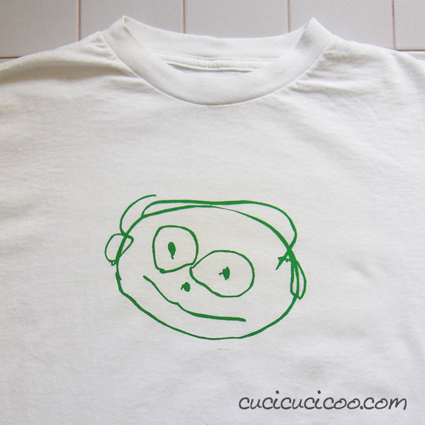 Transfer drawings to t shirts with freezer paper - Cucicucicoo