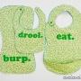 Super Bib Pack by Cucicucicoo Patterns_freezer paper stencil bibs