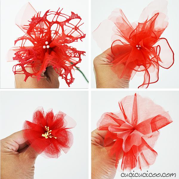 Non sai cosa fare con il packaging delle bomboniere? Ecco come riciclare il tulle dei confetti per creare dei bellissimi fiori fai da te per abbellire casa!