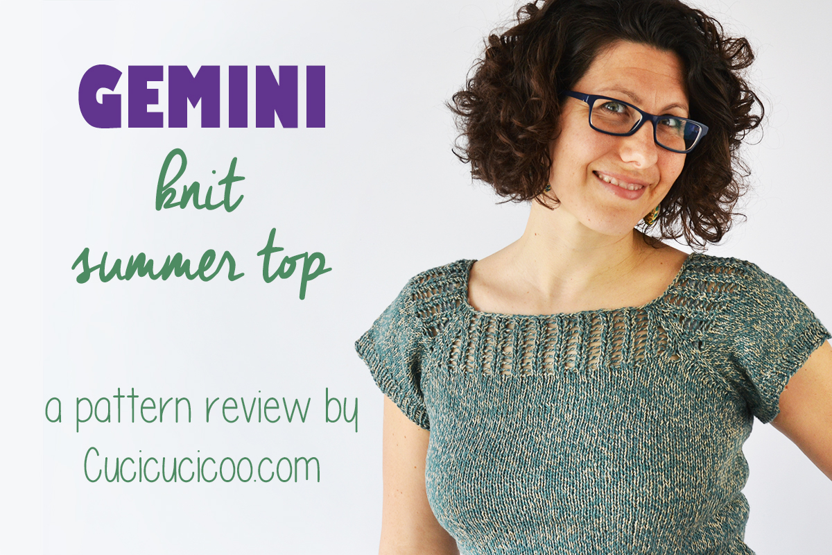 Gemini free knit tee pattern review (reversible top) - Cucicucicoo