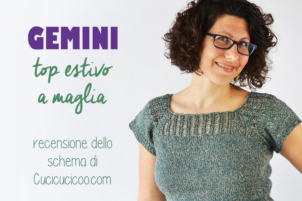 ADORO questo schema gratis per una maglietta estiva ai ferri! La Gemini ha una scollatura con motivo traforato che si può indossare davanti o dietro! Bellissima e versatile!