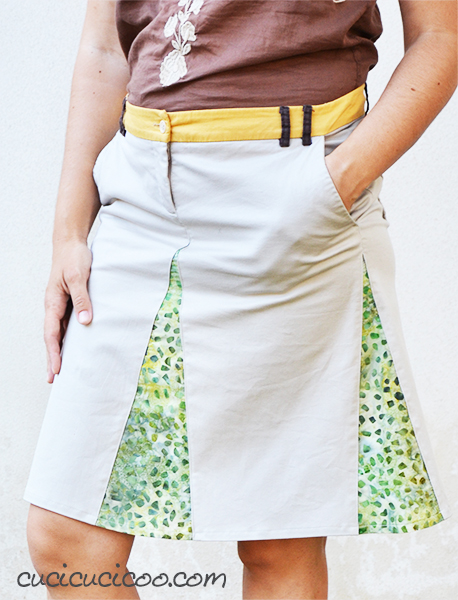 "Got old shorts that don't look good? Refashion them into this DIY skirt with godets, and you'll start wearing it all the time! A great ""new"" garment for FREE!"