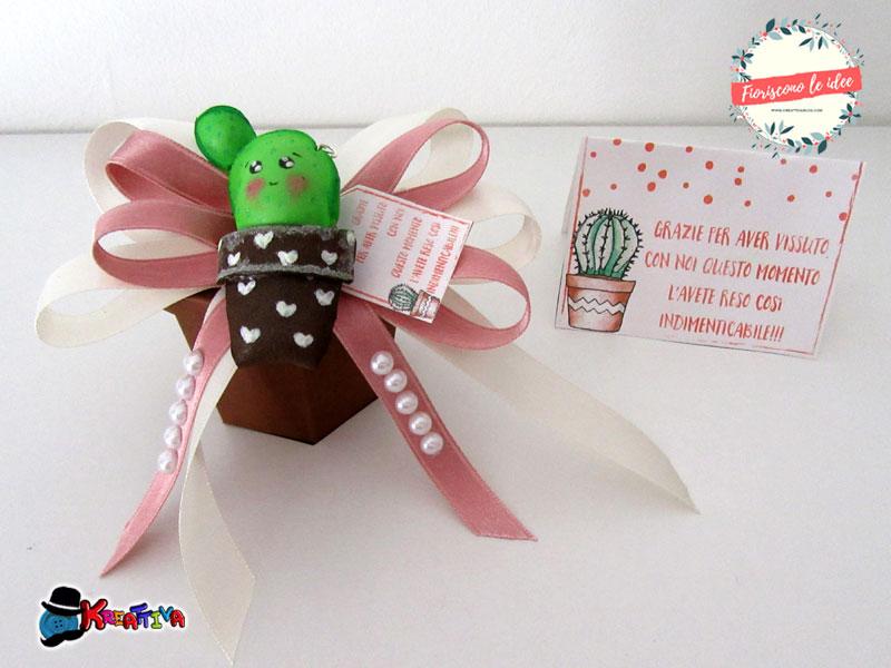 5 tutorial fantastici per fare una tua bomboniera cactus handmade con materiali diversi! Template e biglietti scaricabili per festeggiare tutti i tuoi eventi più importanti! Ecco il cactus di gomma crepla!