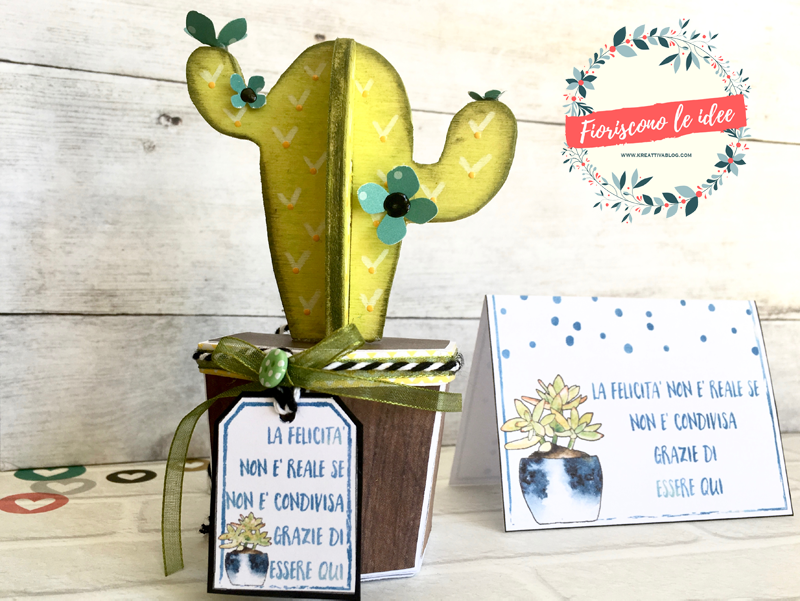 Five fantastic tutorials for DIY cactus party favors with five different materials! Free downloadable templates and printable thank you cards for celebrating all your important milestones with those you love! Here a cactus made from wood!