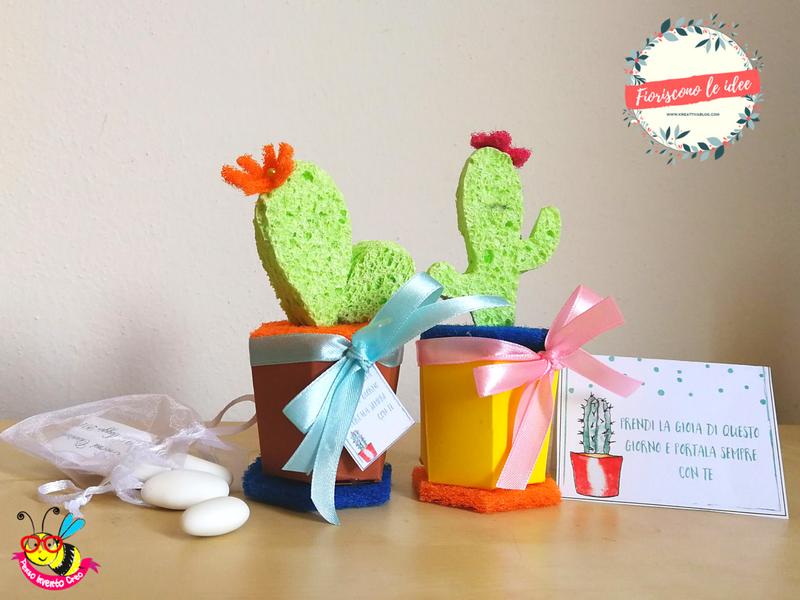 5 tutorial fantastici per fare una tua bomboniera cactus handmade con materiali diversi! Template e biglietti scaricabili per festeggiare tutti i tuoi eventi più importanti! Ecco il cactus fatto con la spugna!