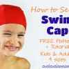 Sew your own swim gear with this FREE swim cap pattern and tutorial in four sizes, both kids and adults! A must-have for swimming in pools and open water!