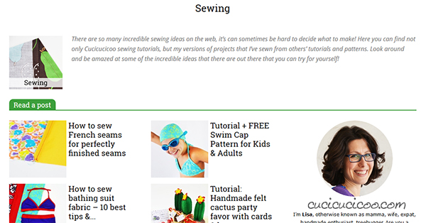 The Cucicucicoo sewing and craft website is back better than ever with a brand new design, making it easy to find all the free tutorials, sewing course and patterns! Check it out today! www.cucicucicoo.com #sewingwebsite #craftwebsite