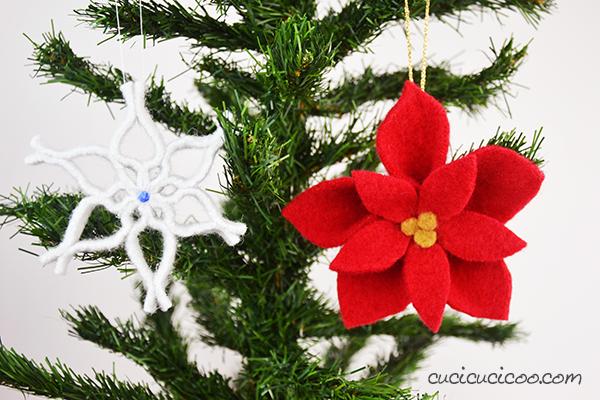 Ricicla un vecchio maglione e trasformalo con forbici e colla in una stella di Natale in lana cotta per una decorazione natalizia fai da te semplice! #stelladinatale #natalefaidate